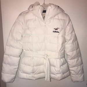 Hollister White Winter Jacket